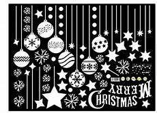 Malvorlage Fensterbild Weihnachten Emwel 2 St 252 Ck Weihnachtsdeko Merry