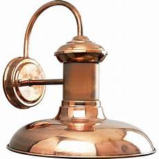 progress lighting brookside collection 1 light solid copper led outdoor wall lantern p5723