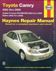 free car manuals to download 2006 lexus es navigation system toyota camry avalon lexus es 300 330 2002 2006 workshop car manuals repair books information