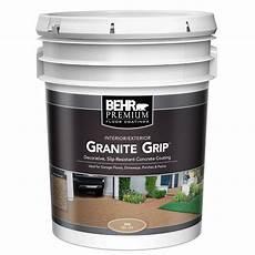 behr 5 gal 65505 granite grip interior exterior concrete paint 65505 the home depot