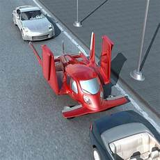 flying car red car futuristic vehicle future vehicle flying vehicle flying car flying