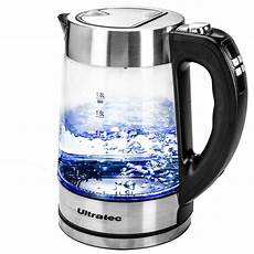 led wasserkocher amazon de ultratec led wasserkocher bluevita200 mit