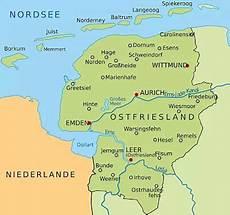 Ostfriesische Inseln Karte - ostfriesland an der nordsee