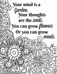 Blumen Malvorlagen Quotes Free Printable Flower Quote Coloring Pages