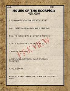 house of the scorpion lesson plans the house of the scorpion pre read activity by sarah