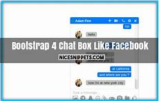live demo bootstrap 4 chat box design like facebook