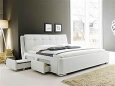 Bett 120x200 Mit Bettkasten - polsterbett weiss bett 180x200 bettgestell 4x schubkasten
