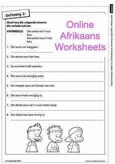 grade 6 online afrikaans worksheets werkwoorde for more