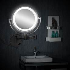 8 5 quot led light illuminated 10x magnifying wall make up shave dual sided mirror ebay