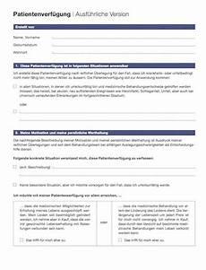 Generalvollmacht Ohne Notar Muster - kurze patientenverf 252 gung zum ausdrucken kalender