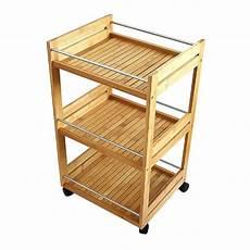 scaffale con ruote scaffale multifunzionale carrello da cucina in bamb 249 con 3
