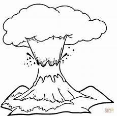 vulkan zum ausmalen malvorlagen gratis