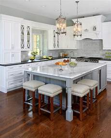 incorporating seating into a kitchen island normandy