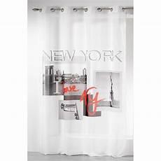 voilage 140x260cm quot i new york quot blanc