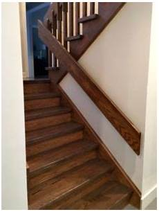 best paint colours for dark hallway stairwell with dark wood trim and stairs kylie m e design