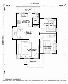 katrina stylish two bedroom house plan pinoy eplans