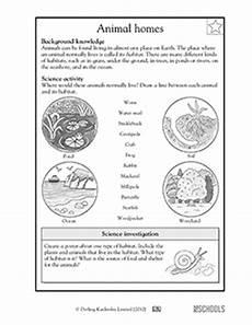 animal adaptations worksheets 2nd grade 13792 animal habitats 3rd grade 4th grade science worksheet greatschools