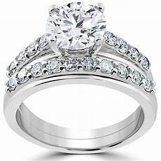 shop 14k white gold 3ct diamond engagement wedding ring sale free shipping today