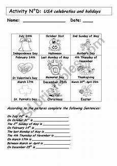 traditions worksheets 15587 usa celebrations and holidays esl worksheet by andresdomingo