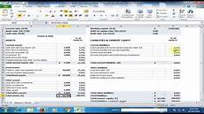 financial statement balance sheet in microsoft excel excel tips and tricks youtube