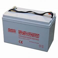 batterie a gel 100ah 12v gel cycle battery for motorhome caravan boat leisure grid ebay