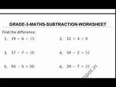 subtraction worksheet for grade 3 10546 subtraction worksheets grade 3