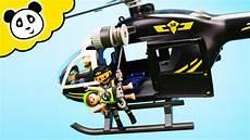 playmobil polizei rettung mit dem sek hubschrauber