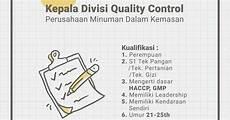 lowongan kerja quality lowongan kerja kadiv quality januari 2018 info