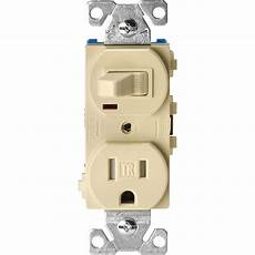 eaton 15 ter resistant combination single pole toggle switch and 2 pole receptacle ivory