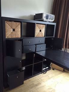 Ikea Expedit Kallax Storage Unit Desk With Drawers