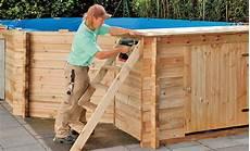 Pool Bausatz Holz Bausatz Pool Wasser Im Garten Teich Bild 2 Selbst De