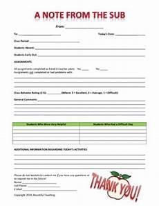 middle grades high school substitute feedback form by bountiful teaching