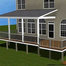 when covering your porch or deck there are three typical roof designs shed gable and hip