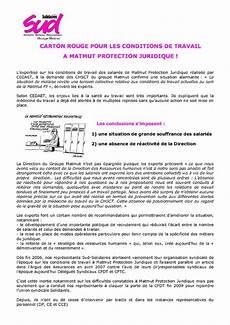 Conditions De Travail 224 Matmut Protection Juridique