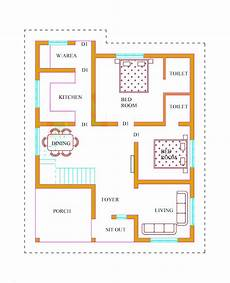 one floor house plans in kerala house plan for a 1000 sq ft single floor house