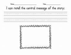 central message graphic organizer by theteacherbowtique tpt