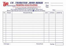 jual nota surat jalan kwitansi custom dengan rangkap cocok untuk toko kantor pabrik di lapak box