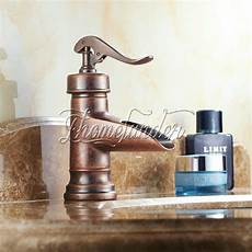 centerset copper finish rustic single handle brass bathroom sink faucets ebay