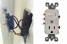 replace a wall light switch with a switch outlet combo electrical diy chatroom home