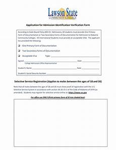 identification verification form definition uses importance and inclusions
