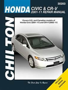 car maintenance manuals 2007 honda accord regenerative braking chilton repair manual for honda civic cr v 2001 2011 hay30203