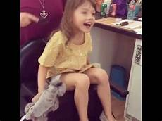 5 year old girl chops her hair off and her grandma freaked this little 5 year old girl getting her hair done not easy youtube