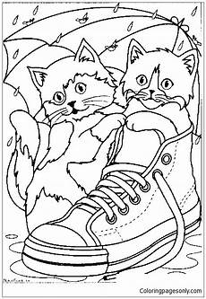 cats in a sneaker coloring page free coloring pages
