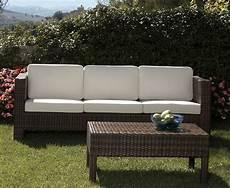 divani esterno rattan sintetico divano 3p per esterno in rattan sintetico ecorattan