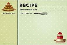free vintage printable recipe cards several styles