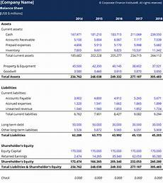balance sheet template download free excel template