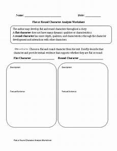 englishlinx com character analysis worksheets