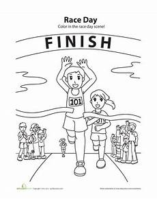 sports day coloring pages 17757 running coloring page worksheets and craft