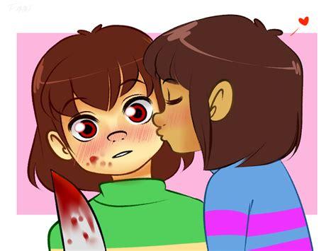 Chara X Frisk Kiss