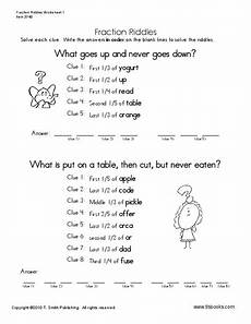 fraction riddle worksheets 4079 fraction riddles worksheet for 5th 6th grade lesson planet